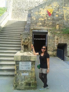 Entrance to the Valkenburg  Castle