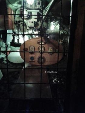 Inside the U3 submarine, the captain's quarter