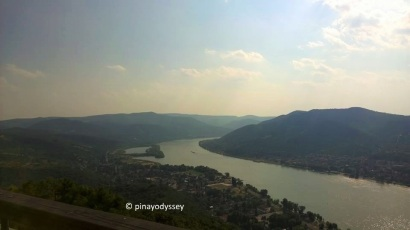 The Danube River Bend, as seen from the citadel