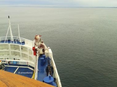 Taking the ferry from Helsingør, Denmark