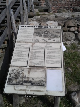 Info board at the foot of the tower