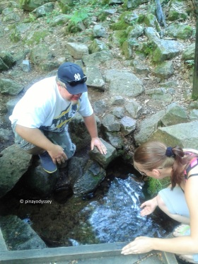 Potable water from the little stream