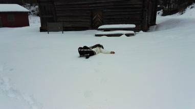 Deep snow is deep!