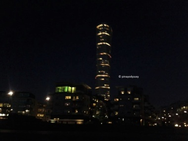 The Turning Torso by night