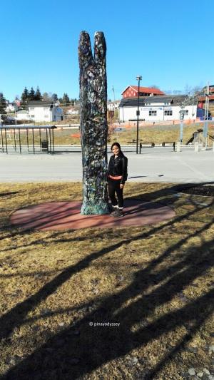 Starting the hike in Vestfossen