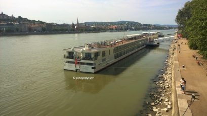 Walking along the Danube promenade