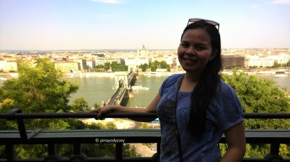 View of the bridge from the Buda Castle