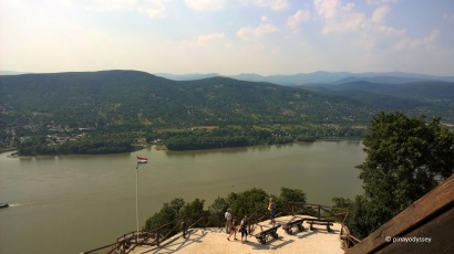 The Danube River, as seen from the citadel