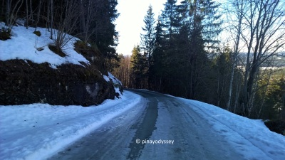 The icy road