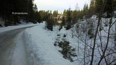 Ice and deep snow