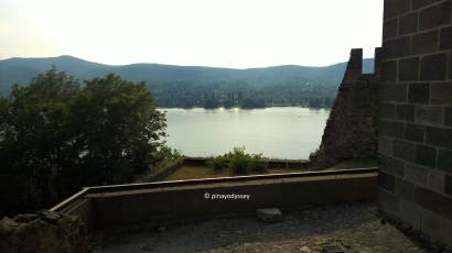A view of the Danube River from the Lower Castle