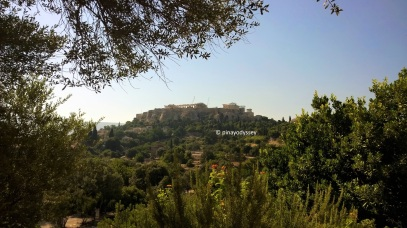 View of the Acropolis from the Temple of Hephaestus