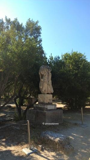 The torso of the statue of the Roman Emperor Hadrian