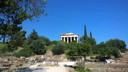 Temple of Hephastus from the agora