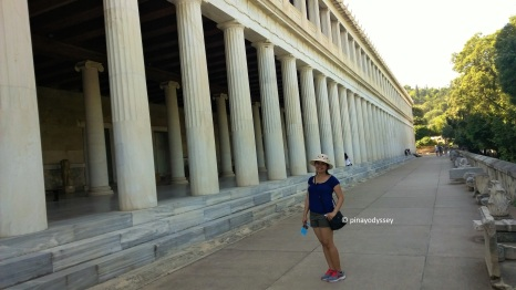 Just me at the Stoa of Attalos