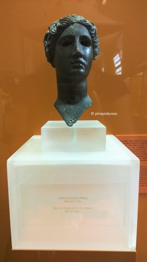 Bronze head of Victory (Nike)