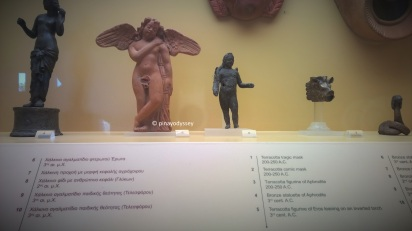 Little statues of Greek gods and goddesses