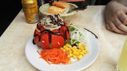 Stuffed tomato at El Coral Comidas Tipicas
