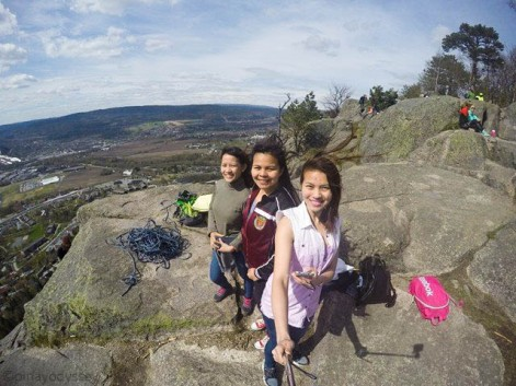 Third hike. Ate Marianne, me and my sister