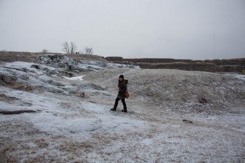 Kustaanmiekka sand banks and artillery