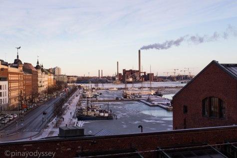 A frozen port