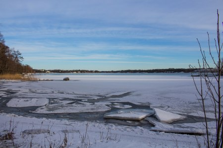 The frozen waters