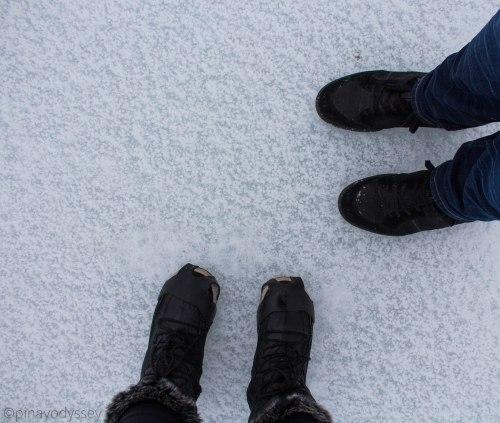 Carl & Maerose on frozen Blektjern