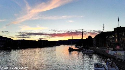 Elvefestivalen 2016, sunset in Drammen