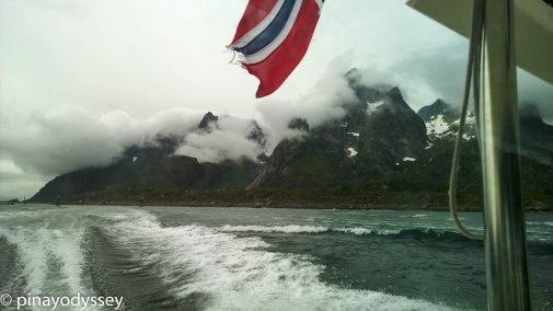 Sailing towards Trollfjorden