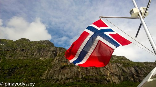 The Norwegian flag